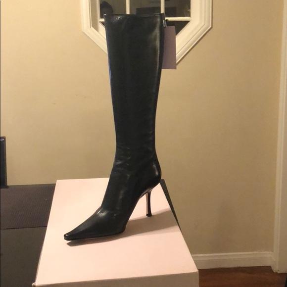 5b1b7e6b5f86 Jimmy Choo Leather Peony Boots